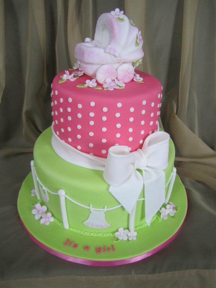 Cake Design Baby Shower Girl : It s A Girl Baby Shower Cake Sweet Discoveries