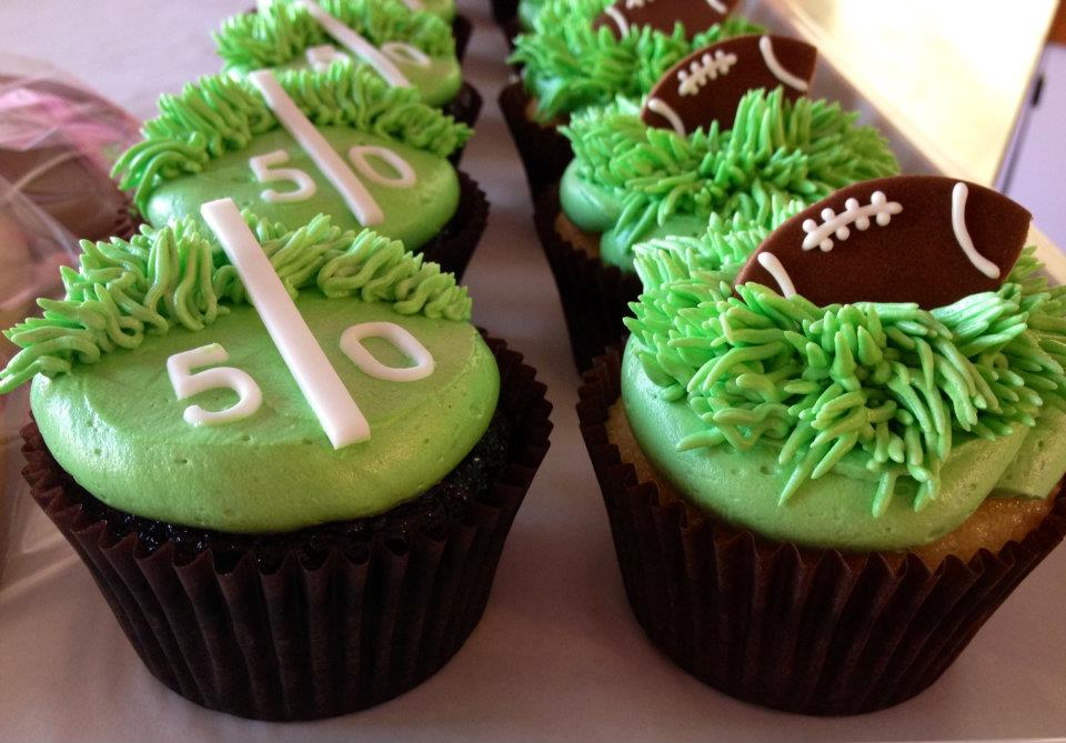 Football Cupcakes For Childrens