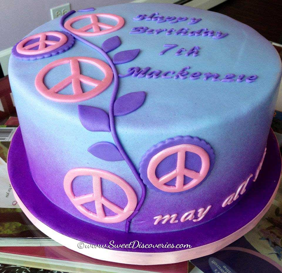 Peace Birthday Cake Sweet Discoveries