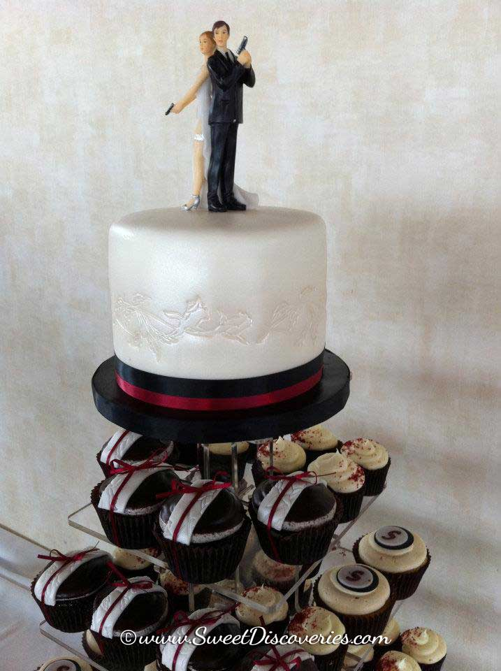 Mr Mrs Smith Wedding Cake