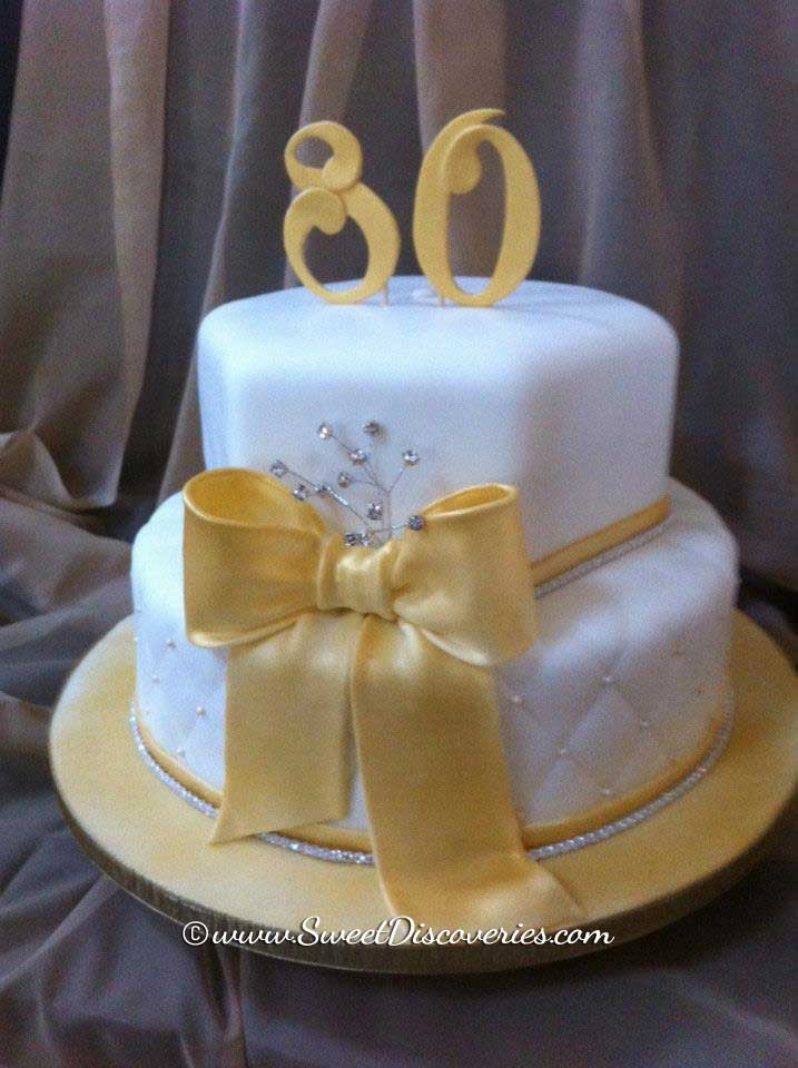 Cake Ideas For Golden Birthday : 80th Golden Birthday Cake Sweet Discoveries