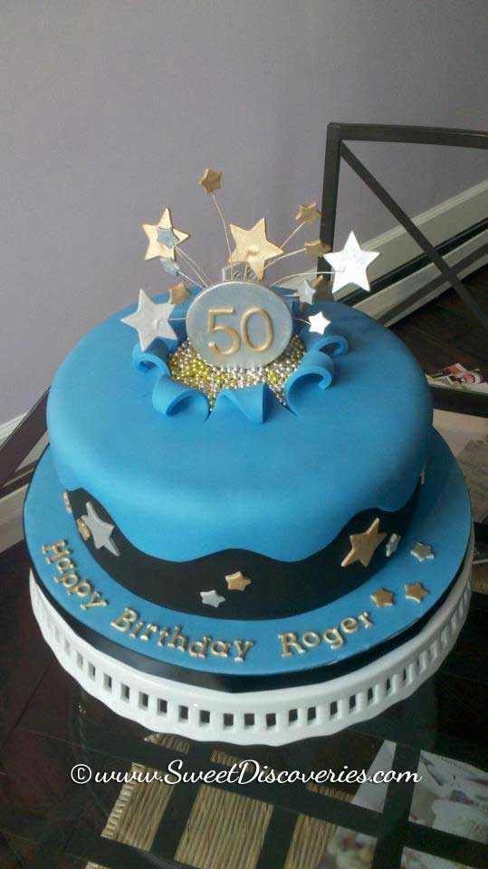 Blue Star Birthday Cake Sweet Discoveries