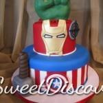 Avengers Grooms Cake 1