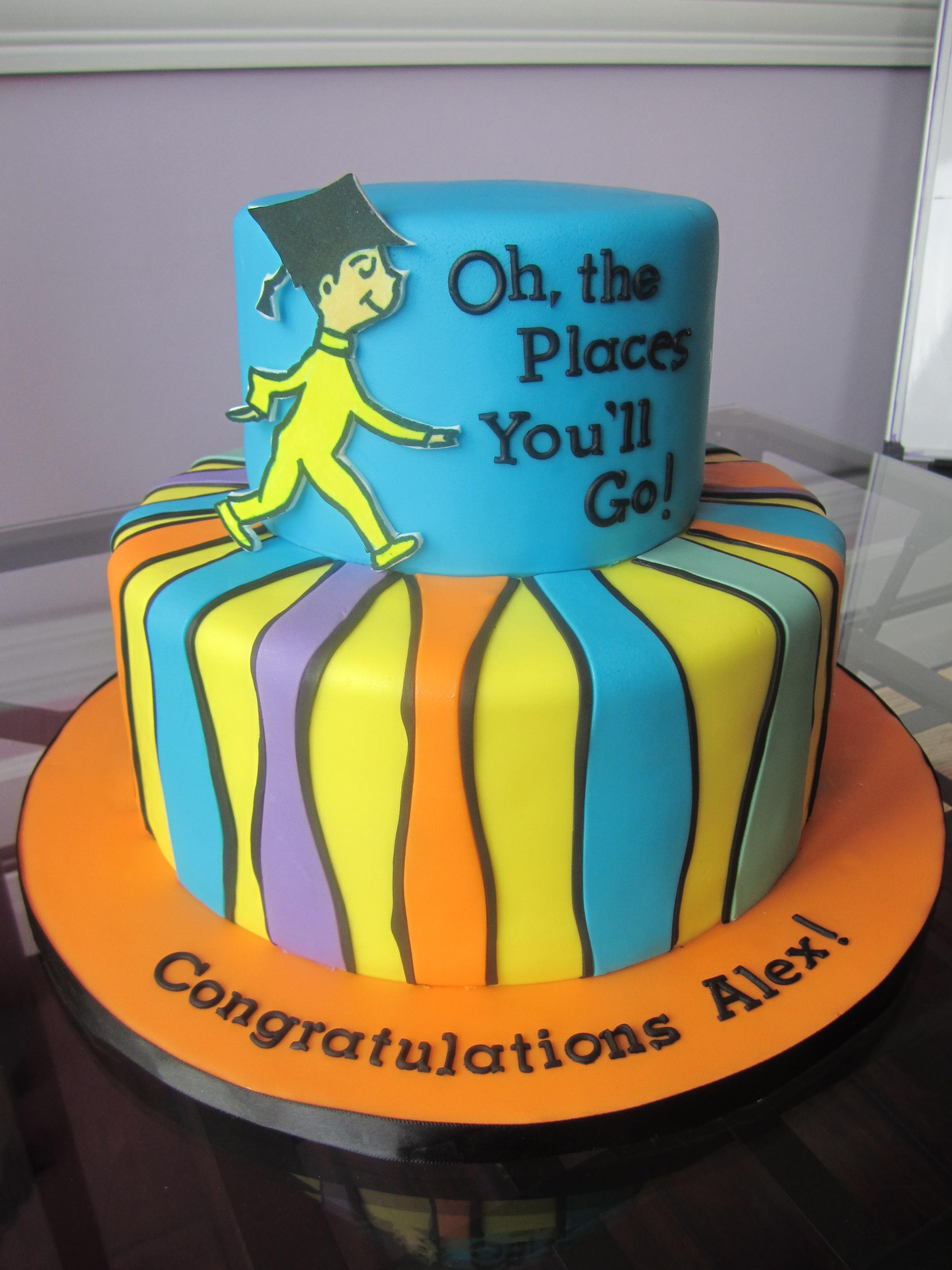Dr Seuss Graduation Cake Sweet Discoveries