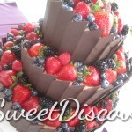 Leeza's Chocolate Berry Wedding Cake