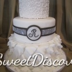 Jen Ruffles Wedding Cake 1