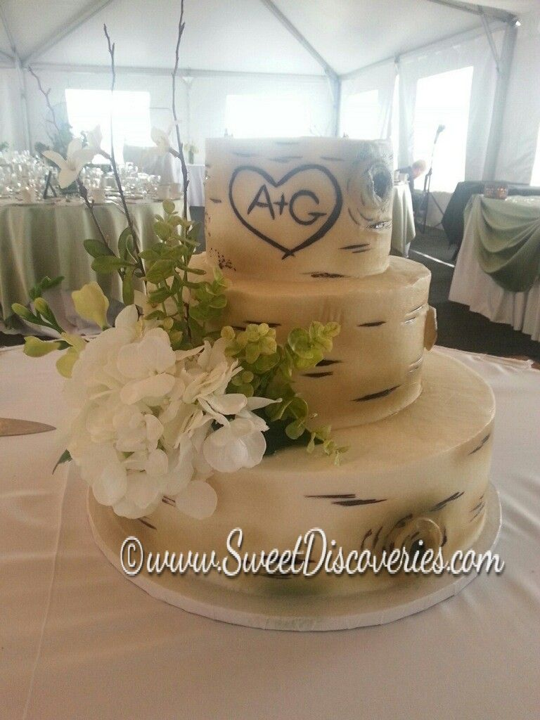 Brittany S Birch Tree Wedding Cake Sweet Discoveries