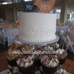 Mr and Mrs Cupcake Tower