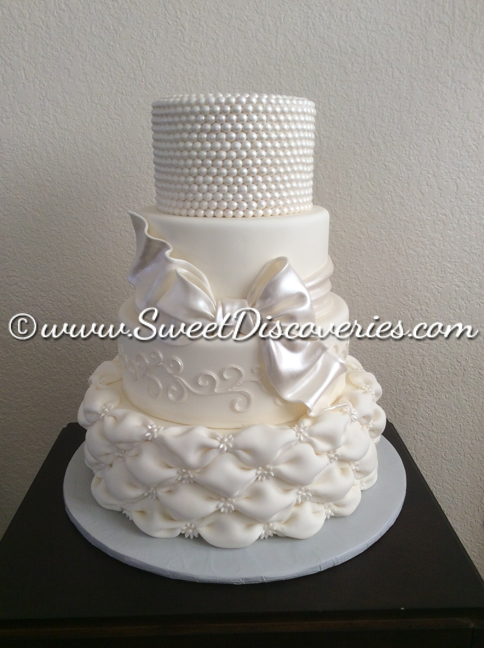 Pillowed Wedding Cake Sweet Discoveries