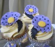 Purple Poppy Cupcakes