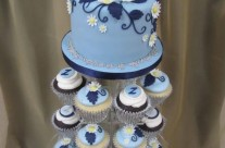 Wedding Bell Blue Cupcakes