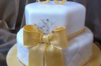 80th Golden Birthday Cake
