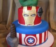 """The Avengers"" Grooms Cake"