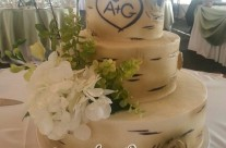 Brittany's Birch Tree Wedding Cake