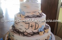 Dana's Birch Tree Wedding Cake