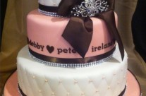 Debby's Classic Pink Wedding Cake