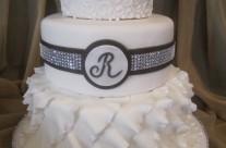 Jen's Ruffles Wedding Cake