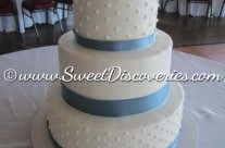 """Kathy's """"when pigs fly"""" Wedding Cake"""