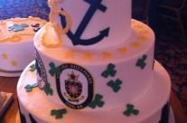 Navy Celebration Cake