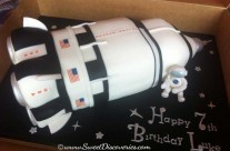 Saturn Space Shuttle Cake