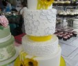 Yellow Blossom Wedding Cake