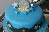 Blue Star Birthday Cake