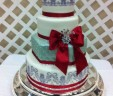 Cherry Bow Wedding Cake