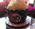 Giant Polka Dot Cupcake