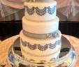 Grey Lace Wedding Cake