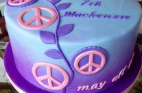 Peace Birthday Cake