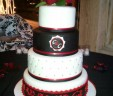 Red & Black Wedding Cake
