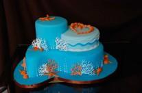 Seashore Bridal Shower Cake