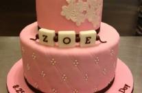 Zoe Christening Cake
